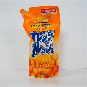 Nước rửa chén, bát hương cam dạng túi 500ml - TR21