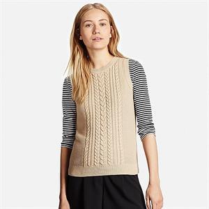 Áo len gile nữ Uniqlo -  WL116