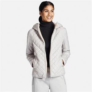 Áo khoác nữ  trần trám, lót lông cừu Uniqlo Nhật - WJ02