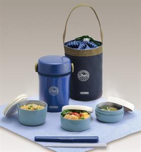 Set đựng thức ăn 3 món -  Thermos - 200ml - xanh