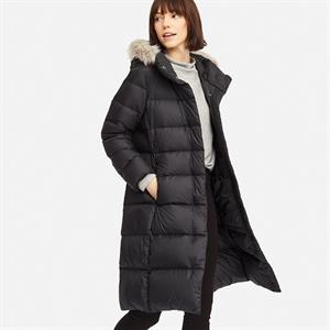 Áo lông vũ siêu nhẹ dáng dài thắt eo Uniqlo, dáng mới  - SG02