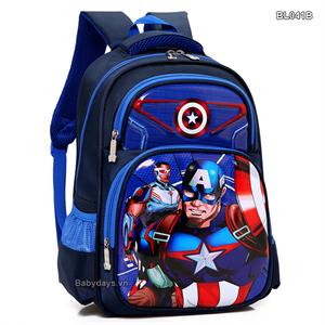 Balo siêu nhân Captain america cho bé BL041B