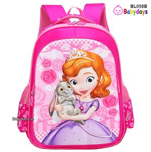 Balo tiểu học công chúa Sofia cho bé BL058B