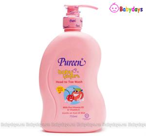 Sữa tắm gội trẻ em Pureen 750ml hương Đào - Cherry