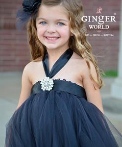 Đầm công chúa màu đen cho bé PD185A.