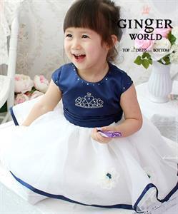 Đầm tiểu thư cho bé Royal HQ59