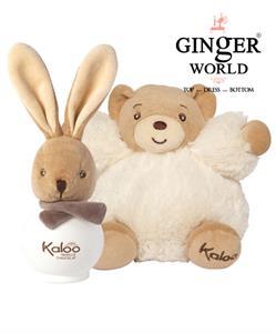 0210_100ML Nước Hoa Cho Bé KALOO Vanille Chocolat không chứa cồn và Gấu Bông MAXI PATAPOUF EDS 17cm