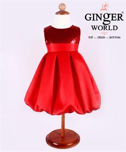 Đầm dự tiệc Bí Ngô đáng yêu cho bé HQ380 GINgER WORLD