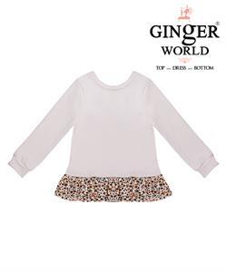 Đầm lửng tay dài phối bèo CS0004 GINgER WORLD