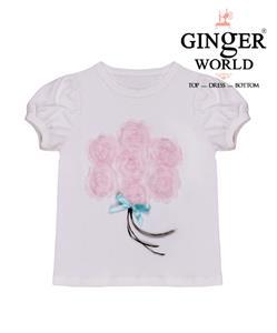 Áo thun hoa hồng cho bé gái CS0002 GINgER WORLD