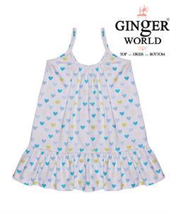 Đầm lửng hình trái tim cho bé gái CS0001 GINgER WORLD
