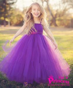 Đầm công chúa Hoàng Hôn màu tím Princess_PR107