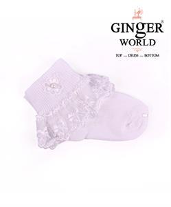 Vớ ren trắng cho bé VR02 GINgER WORLD
