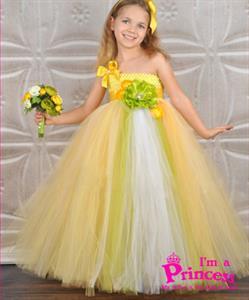 Đầm công chúa nắng vàng Princess_PR110