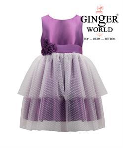 Đầm dự tiệc Nàng tiên áo tím HQ441 GINgER WORLD