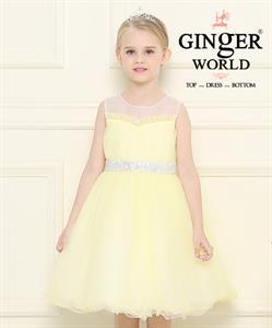 Đầm dạ hội nữ thần Demeter ( cánh đồng lúa vàng ) HQ465_V GINgER WORLD