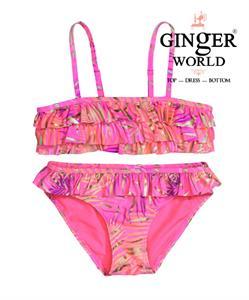 Đồ bơi cho bé gái họa tiết thiên nhiên, màu hồng SW-2HTN