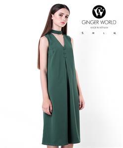 Đầm Dài Thắt Nơ Sau GWD0023