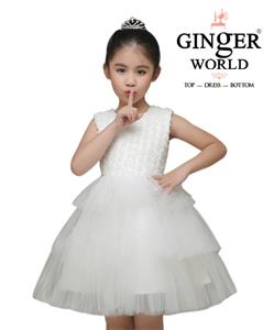 Đầm Dự Tiệc Cho Bé Vườn Hoa Nhỏ HQ494 GINgER WORLD