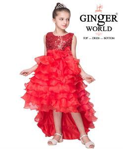 Đầm Công Chúa Nữ Hoàng Nhí HQ507_D GINgER WORLD