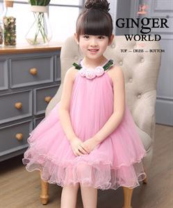 Đầm Yếm Dự Tiệc 3 Bông HQ668 GINgER WORLD