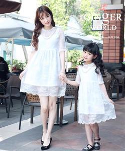 Combo Đầm Ren Cho Mẹ Và Bé MVB0014 GINgER WORLD