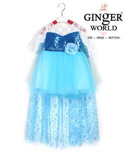 Đầm Công Chúa Elsa Nữ Hoàng Băng Giá HQ701 GINgER WORLD