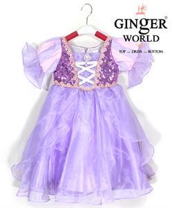 Đầm Công Chúa Tóc Mây Rapunzel HQ702 GINgER WORLD