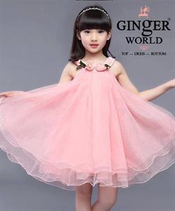 Đầm Tinh Nghịch Cho Bé HQ712_H GINgER WORLD