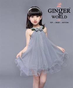 Đầm Dự Tiệc Cho Bé HQ712_X GINgER WORLD