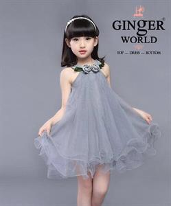 Đầm Tinh Nghịch Cho Bé HQ712_X GINgER WORLD