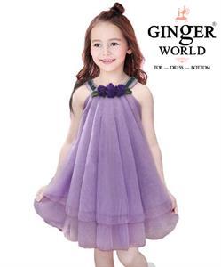 Đầm Tinh Nghịch Cho Bé HQ712_T GINgER WORLD