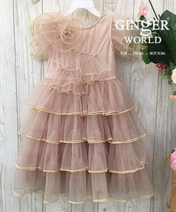 Đầm Dự Tiệc Cho Bé HQ736 GINgER WORLD
