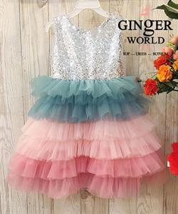 Đầm Dự Tiệc Cho Bé HQ744 GINgER WORLD
