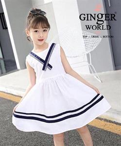 Đầm Thủy Thủ Cho Bé SC218_T GINgER WORLD