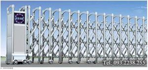 Cổng xếp inox tự động Mã SUS 304