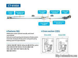 Cửa trượt bán tự động CT-603/Korea