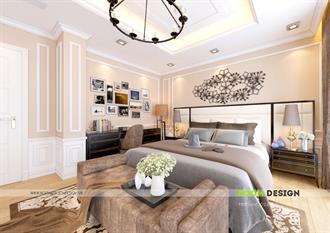 Thiết kế nội thất phòng ngủ Master 02 - Biệt thự Hoa Lan - Vinhomes Long Biên