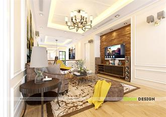 Thiết kế nội thất phòng sinh hoạt chung - Biệt thự Hoa Lan Vinhomes - Long Biên