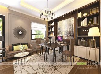 Thiết kế nội thất Biệt thự Vinhomes Hoa Lan - Phòng làm việc