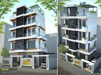 Thiết kế kiến trúc nhà chia lô DT 96m2 - Anh Vũ, KĐT Mộ Lao - Hà Đông