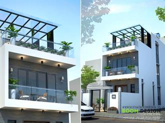 Thiết kế kiến trúc nhà chia lô DT 90m2 - Mr. Lê Tuấn Vũ - TP. Lạng Sơn