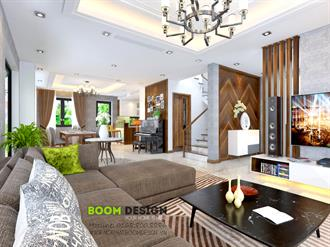 Thiết kế nội thất biệt thự chia lô 120m2 - Chị Ánh, căn góc Park River 2A, Ecopark