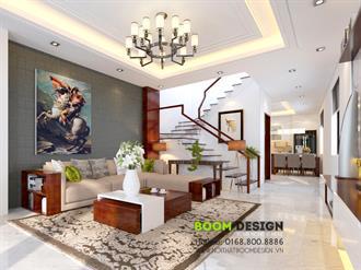 Thiết kế nội thất nhà chia lô 60m2 - Anh Vũ - TP Lạng Sơn