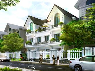 Chủ đầu tư: Anh Thành - Biệt thự Vinhomes Hoa Lan - Long Biên - Hà Nội (Phối cảnh kiến trúc)