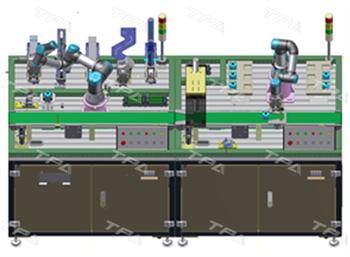 Hệ thống đào tạo rô bốt lắp ráp, kiểm tra phân loại sản phẩm