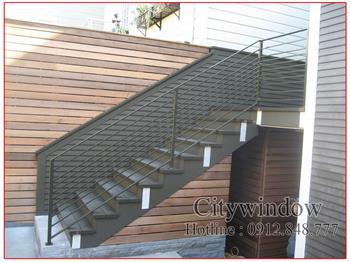 Mẫu cầu thang sắt số 10