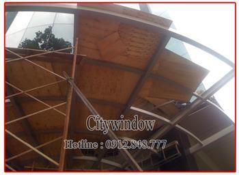 Mái kính - mái sảnh kính mẫu 29