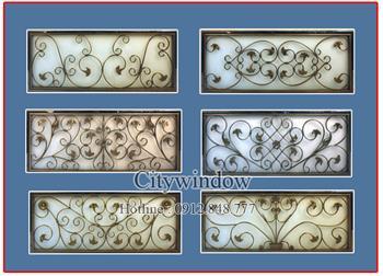 Mẫu hoa sắt cửa sổ - số 34