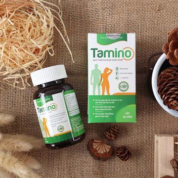 Tăng cân Tamino - Viên uống tăng cân an toàn bổ sung hợp chất Whey Protein nhập khẩu Mỹ